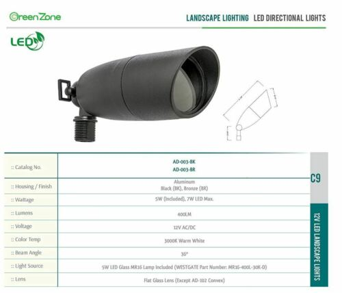 Westgate Landscape Light AD-003-BK-LED