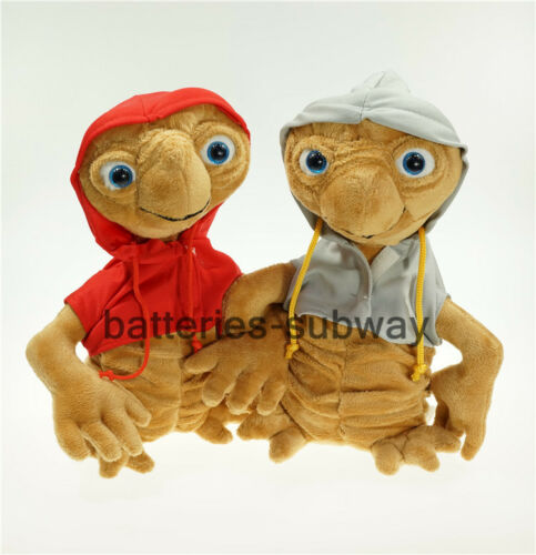 """Lot 2 pcs 10/"""" New E.T the Extra-Terrestrial Red Grey Stuffed Plush Doll Toys"""