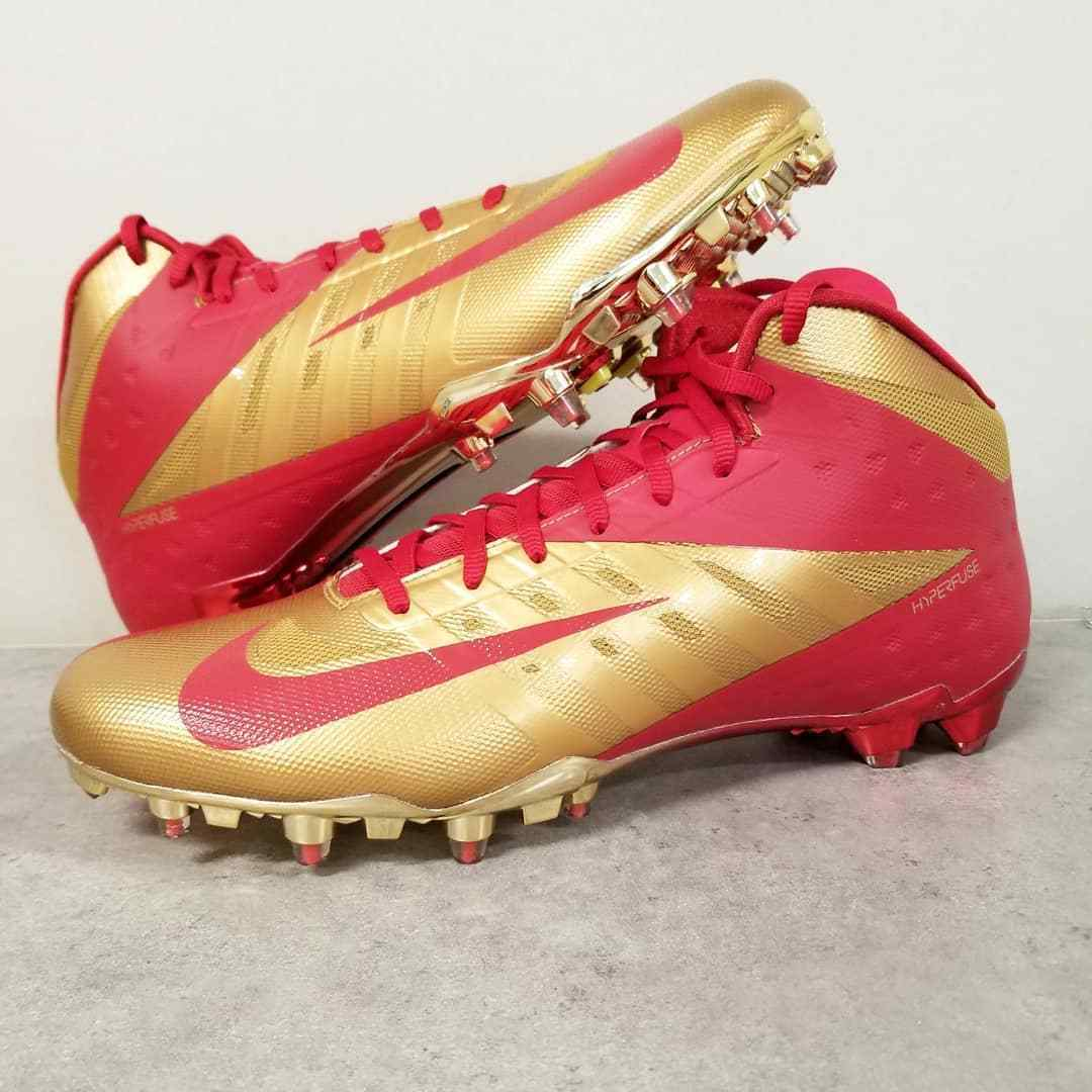 PROMO SAMPLE Nike Vapor Talon Elite Cleats NFL SF 49er Colin Kaepernick PE Sz 13