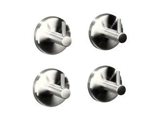top 4er set edelstahl handtuchhaken handtuchhalter anschrauben oder kleben ebay. Black Bedroom Furniture Sets. Home Design Ideas