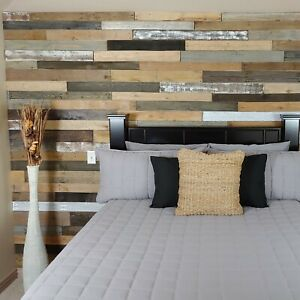 10sqft of pallet wood wall - accent wall - feature wall