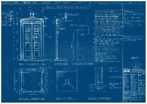 Doctor who tardis blueprint prop poster free uk postage ebay doctor who tardis blueprint prop poster free uk malvernweather Gallery