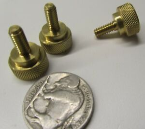 Straight-Shoulder-Brass-Thumb-Screw-1-2-034-Dia-8-32-x-3-8-034-Length-3-Pc