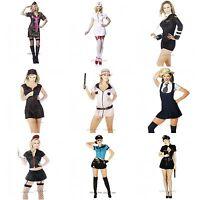 Womens Costume Fancy Dress Sexy School Girl Army Nurse Sizes S M L