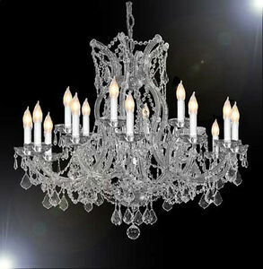 Details About Maria Theresa Chandelier Crystal Lighting Chandeliers H 28 X W 37