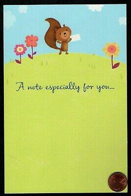 614-MSA Squirrel Birthday Greeting Card NEW