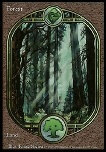 Forêt Unglued - Forest - Textless - Magic mtg - Exc