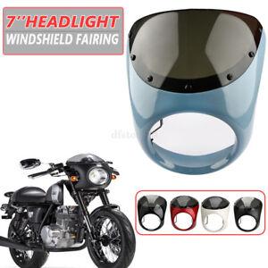 Motorrad-7-034-Schutzscheibe-Windschutzsche-Blau-fuer-ATV-Roller-Harley-Honda-Yamaha