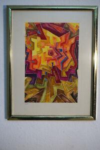 Signiertes-Gemaelde-abstraktes-modernes-Motiv-Maler-Ripe-Wohnzimmer-Bild-0174