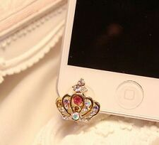 Cute Crown 3.5mm Front Anti-Dust Ear Cap Plug For iPhone6s,6s Plus 5th,6,6 Plus