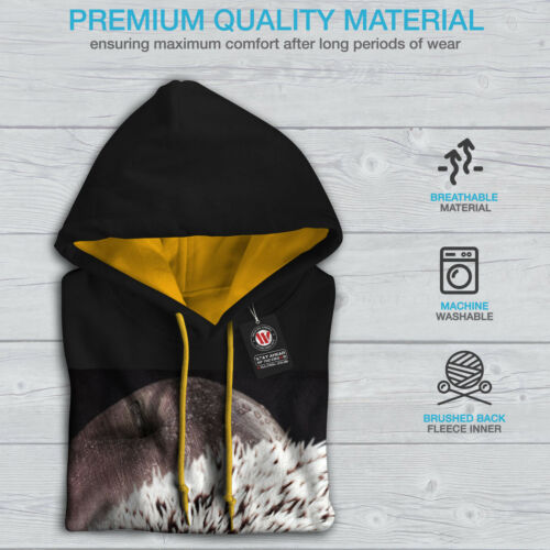 Contrast gold Hoodie Black Hood New Men Hedgehog Apple Fun qaW4xtz6z