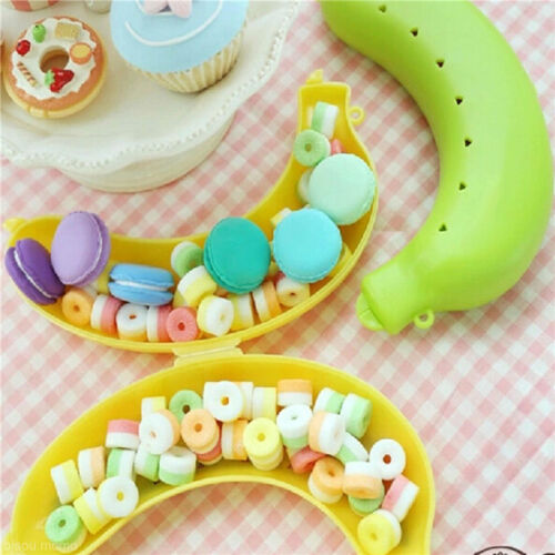 3 Color Fruit Banana Protector Box Holder Case Lunch Container Storage 19cm、 UQ