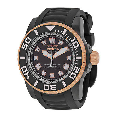 Invicta Pro Diver Black Dial Black Rubber Mens Watch