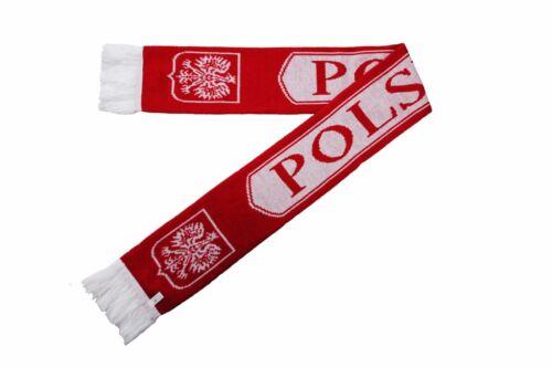 POLSKA POLAND EAGLE Red White THICK SCARF. New