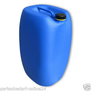 60 liter blau fass tank kanister industriekanister beh lter dicht verschlie bar ebay. Black Bedroom Furniture Sets. Home Design Ideas