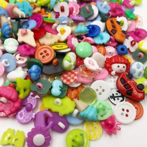 50-100-500pcs-Mix-Lots-Plastic-Buttons-Sewing-Craft-PT80