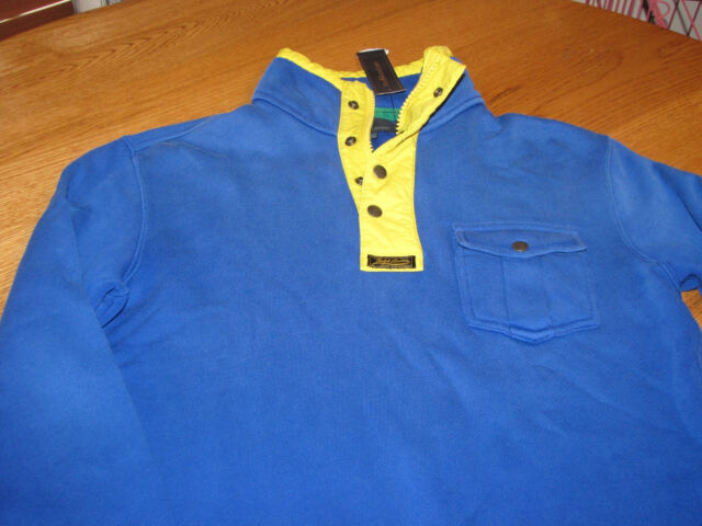 Mens Polo by Ralph Lauren S small blue fleece shirt $185.00 0477874 1/2 zip 3