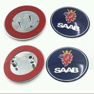 2x Saab Bonnet Front Bonnet & Rear Boot Badge Emblem 93 9-3 2003-10 UK Next Day!