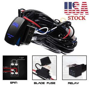 for polaris rzr 1000 900 ranger 12v rocker switch wiring harness led