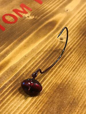 4//0 Gamakatsu Hook 5pk 1//8oz Redbug Money Maker Football Swing Jig biffle head