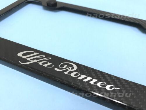 1x ALFA ROMEO Real 3K Twill Weave CARBON FIBER License Plate Frame Holder