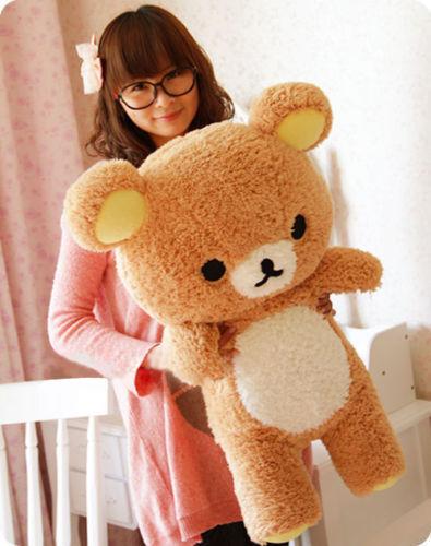 55cm Stuffed Kawaii San-x Rilakkuma Relax Bear Soft Pillow Plush Toy Doll Gift