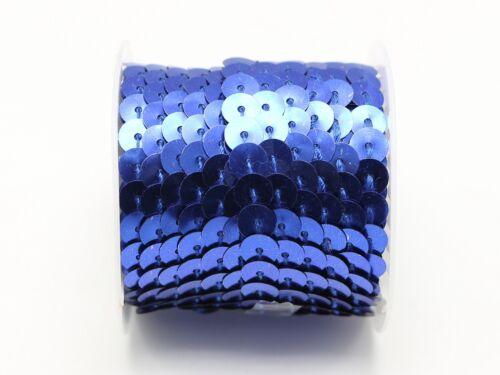 plat 6 mm Sequin Sew Sur Trim Strip Trim Lace Craft Costume Coudre environ 4.57 m 2 Rouleau X 5 Yd