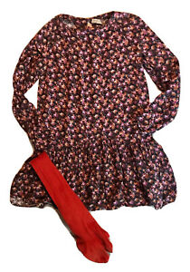 ZARA 11 12 ANS  Fille : Robe FLEURIE LIBERTY Manches LONGUES HIVER BE