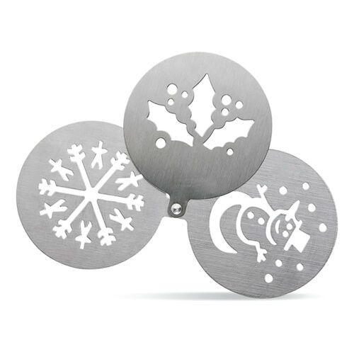 Acero INOXIDABLE café plantillas Capuchino Café con Leche Chocolate espiral//Corazones Navidad