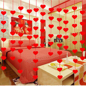 Non-woven-Garland-Love-Heart-Curtain-Wedding-Supplies-Wedding-Decoration-Room-SE