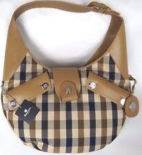 Aquascutum Hunter Hobo Taupe Club Check Large Handbag Bnwt