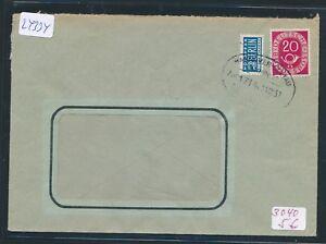 24334 Bahnpost Ovalstempel Hannover Soltau Zug 1714 Brief 1952 SchöNe Lustre