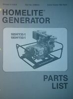 Homelite Generator Parts Manual 4p 185hy35-1 190hy50-1 Off Grid Camping Preppers