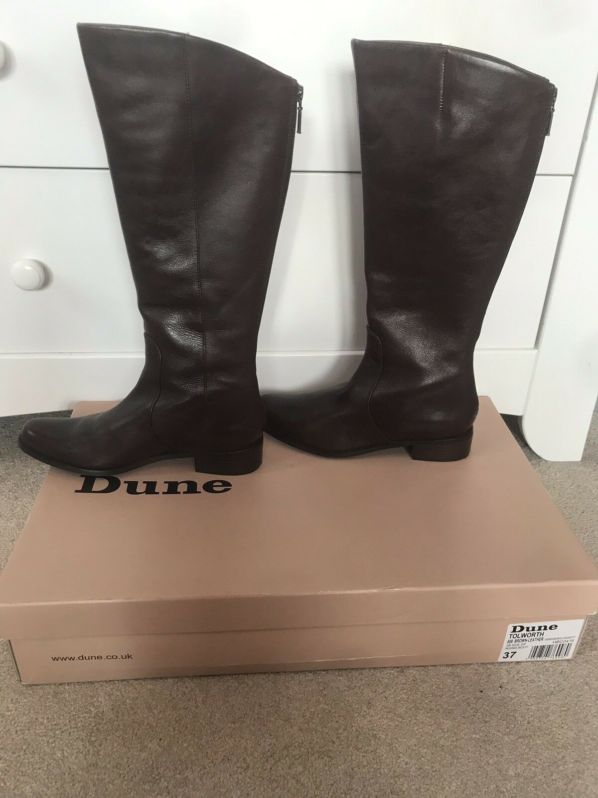 Dune braun Knee High High High Stiefel - Größe 4 - BRAND NEW IN BOX b2a95a