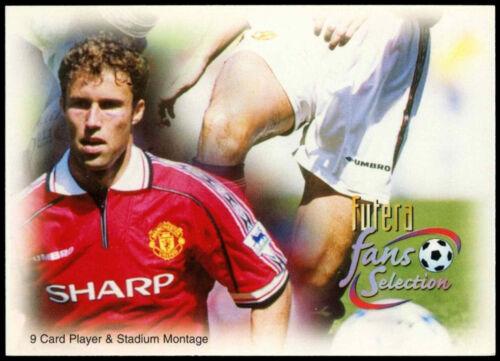 C338 Lecteur /& stadium montage #75 futera manchester united 1999 football card
