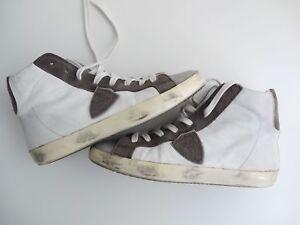 Gr Sneaker Top Np Leder E Mix 39 Grau Philippe Model 295 High Weiss qYtRB