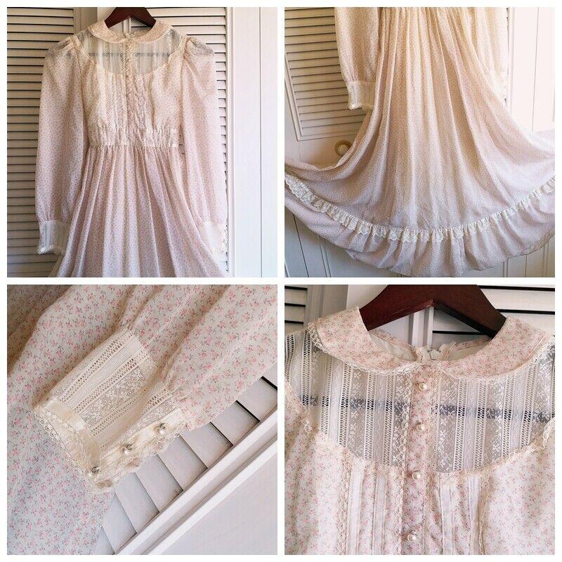 ASIS RARE vintage GUNNE SAX floral  Prairie dress… - image 8