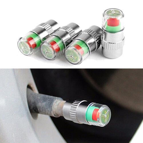 4pc Auto Pneumatico Valvola Caps Ruota Pressione 30 32 36 Psi Sensore Aria