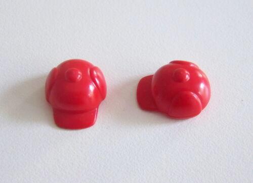 PLAYMOBIL (0438) Chapeaux Enfants - Lot de 2 Caquettes d'Hiver Rouge Foncé