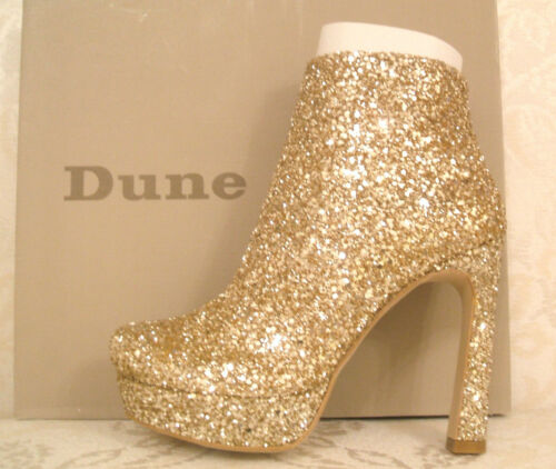 D Bag Extra Dune 5 4 6 Boots Glitter Rrp 3 Shoes New Klassy Ankle £129 Gold Size pfg6xq8