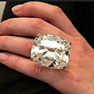 Elegant-Women-Jewelry-White-Topaz-Birthstone-925-Silver-Ring-Wedding-Gift-Sz6-10