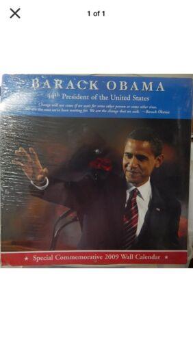 2009 BARACK OBAMA SPECIAL COMMEMORATIVE WALL CALENDAR SEALED BRAND NEW Sealed