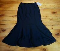Adrianna Papell Size 8 Black Long Modest Skirt Church Formal Party Career