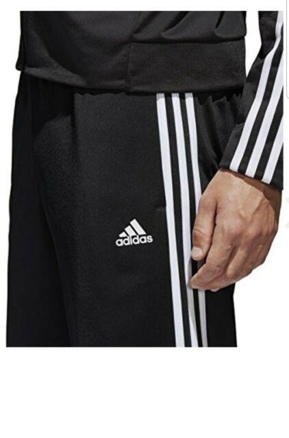 Adidas Essential 3-Stripes Pants Men/'s Black White BK7402 Training Running New