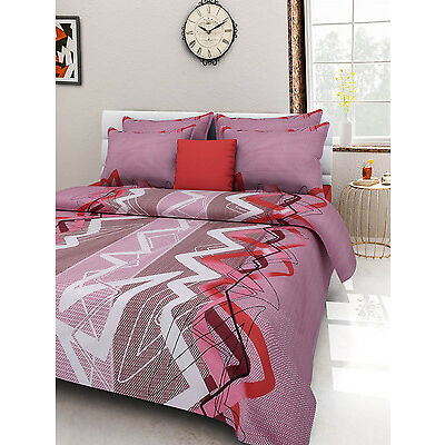 Homefabs 100% Cotton Double Bed Sheet with 2 Pillow Covers (DBS105)