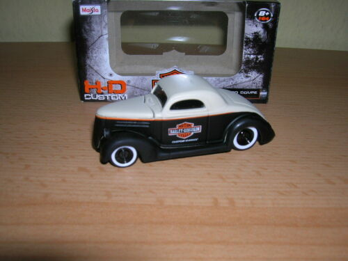 1:64 Maisto Harley-Davidson Customs 1936 Ford Coupe crema negro