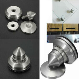 4x-Stainless-Steel-Speaker-Spike-Pad-Base-Amplifier-Isolation-Cone-Stand-Feet