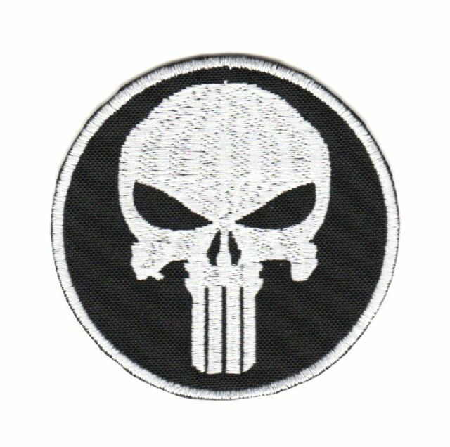 Tactical Military Army Badge Morale Patch Punisher Skull Biker Motorcycle