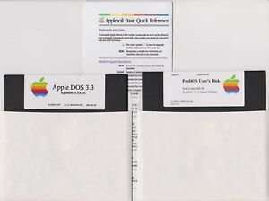Apple-II-OS-Kit-DOS-3-3-ProDOS-User-039-s-Disk-Quick-Ref-Card-for-IIe-IIc-IIGS