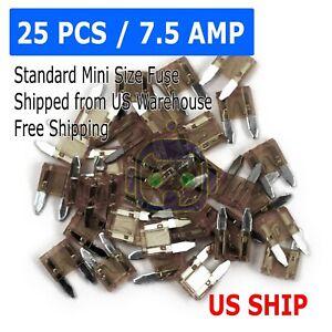 25pc-7-5-Amp-Mini-Blade-kleine-Sicherung-Sortiment-Auto-Auto-Motorrad-SUV-Sicherungen-Kit